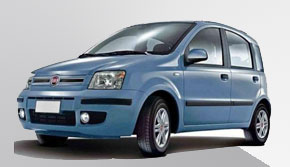 Fiat panda rental in ios Greece